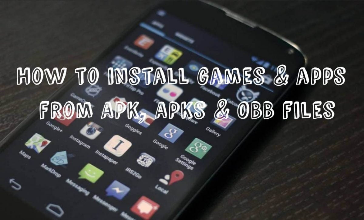 cover how to install apk files