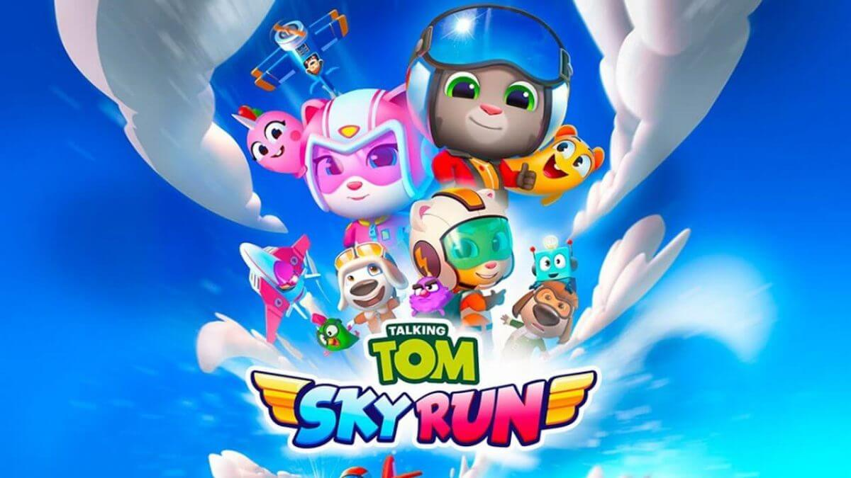 cover talking tom sky run