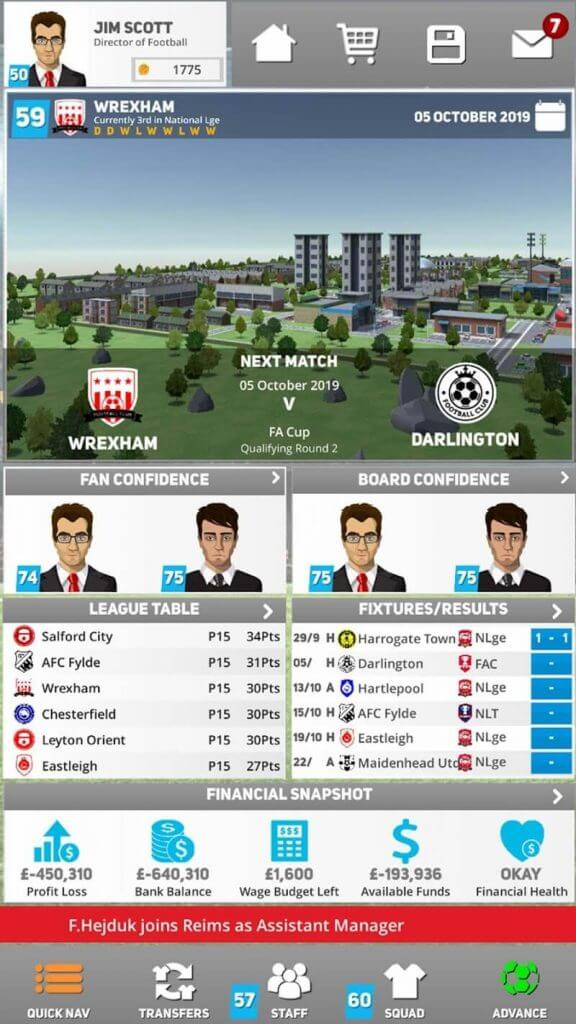 download club soccer director 2021