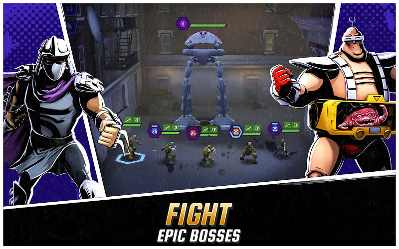 download ninja turtles legends mod apk