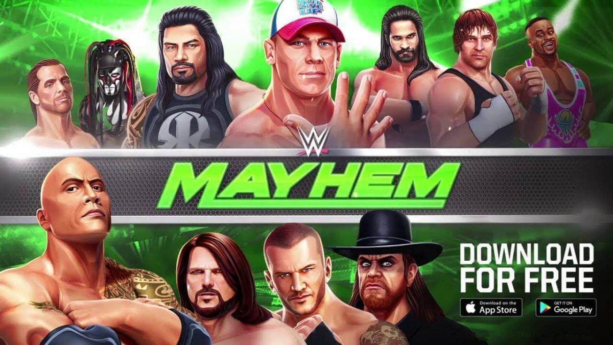 cover wwe mayhem