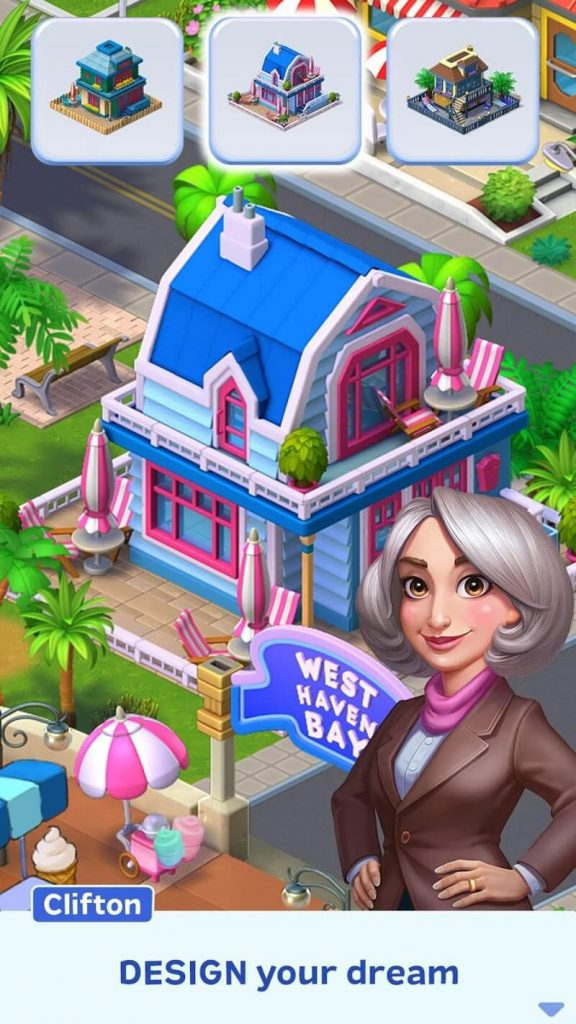 download match town makeover mod full