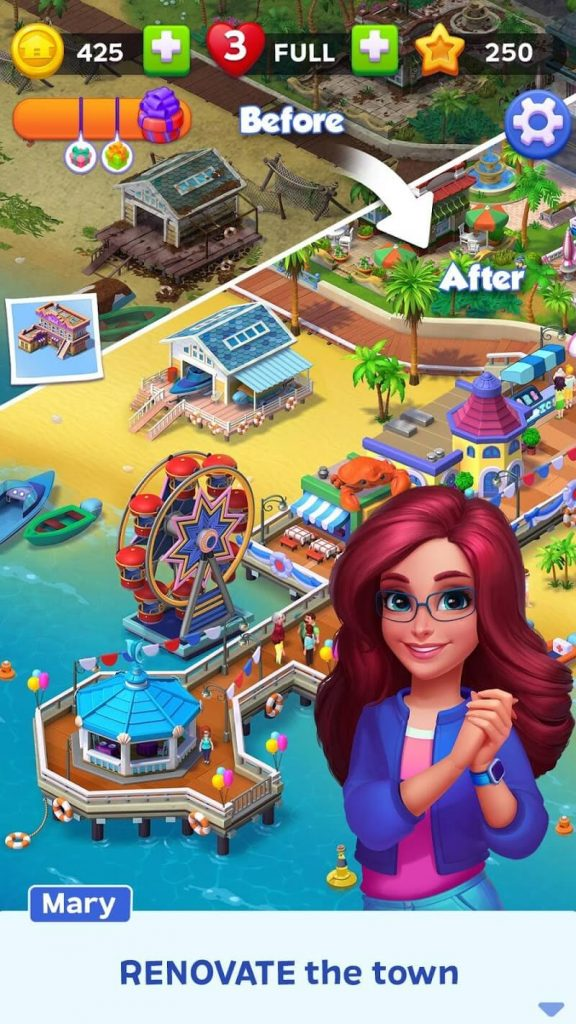 download match town makeover