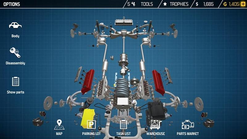 download cat mechanic simulator mod money
