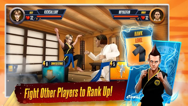 download cobra kai card fighter mod apk