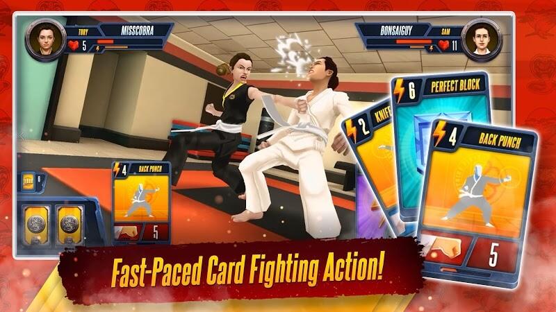 download cobra kai card fighter