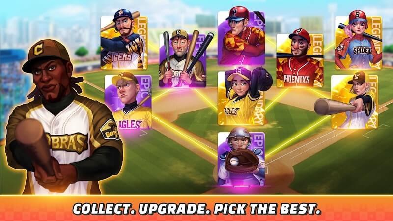 download baseball clash mod money