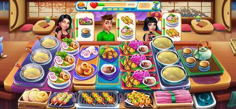 download cooking love premium mod apk