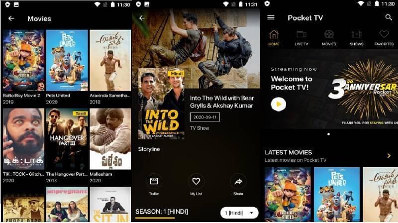 download pocket tv mod apk
