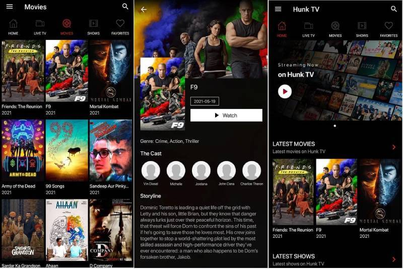 download hunk tv mod apk