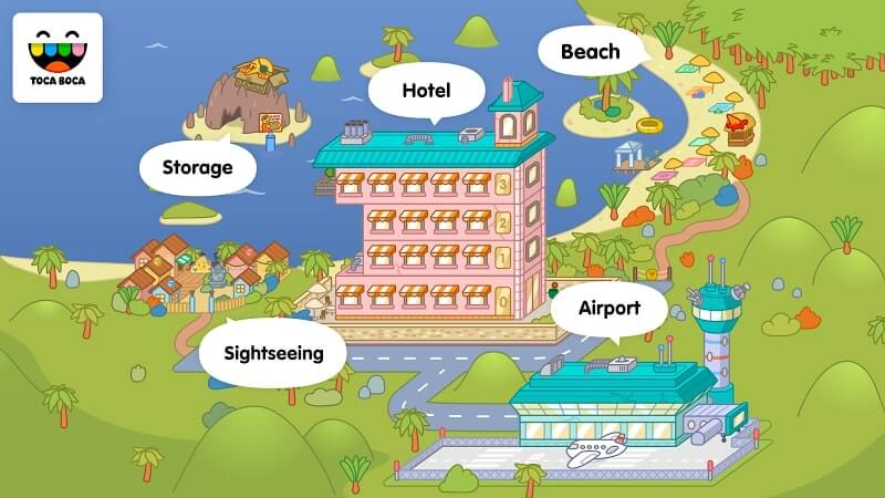 download toca life vacation mod unlocked
