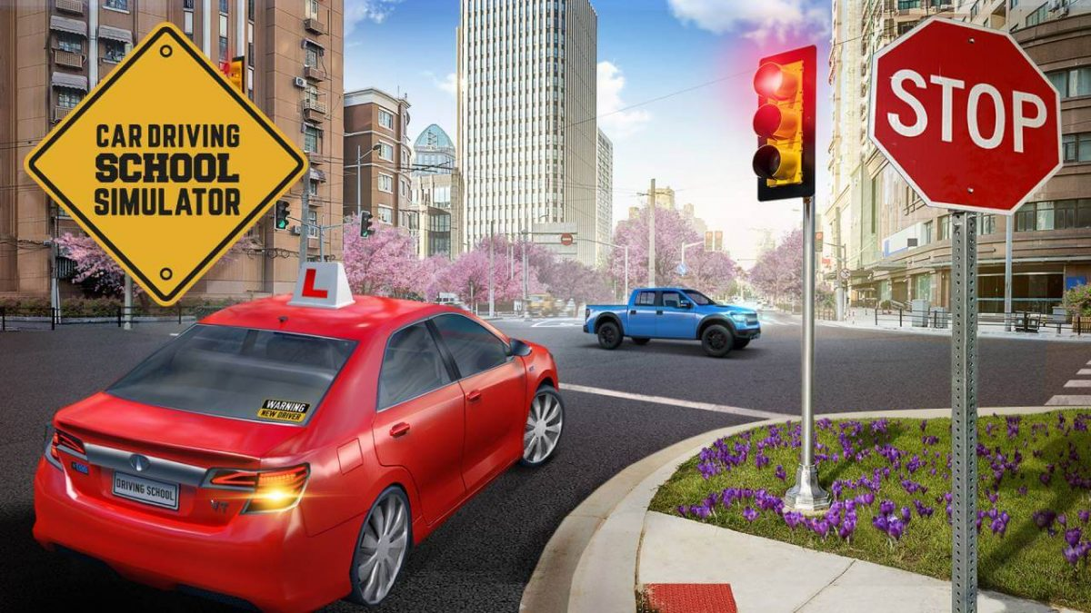 cover car driving school simulator