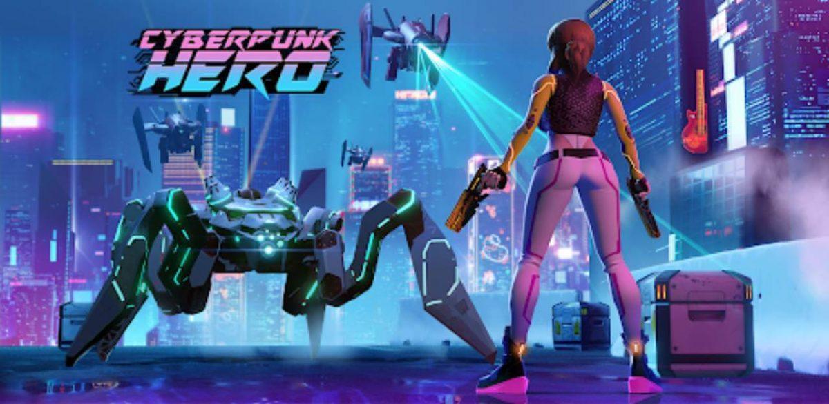 cover cyberpunk hero