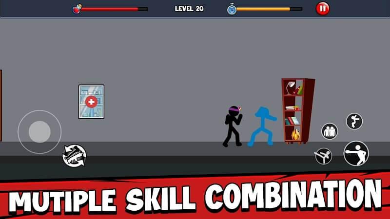download anger of stickman mod apk