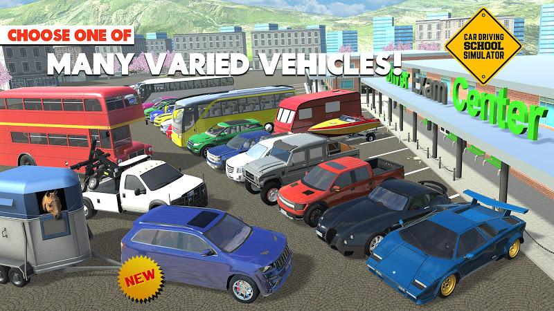 download car driving school simulator mod money