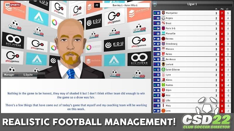 download club soccer director 2022 mod money