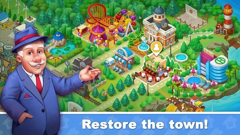 download town blast city restoration mod money