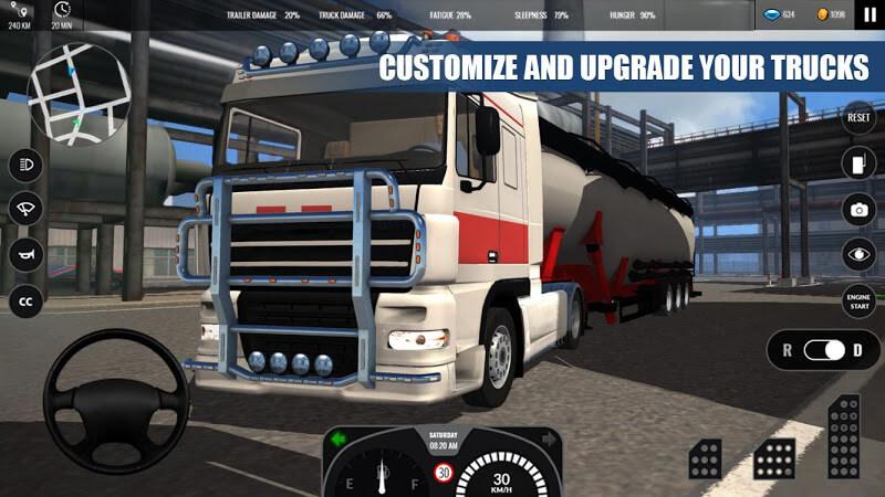 download truck simulator pro europe mod money