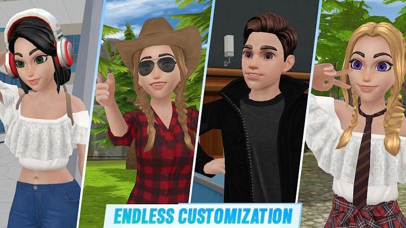 download virtual sim story mod apk