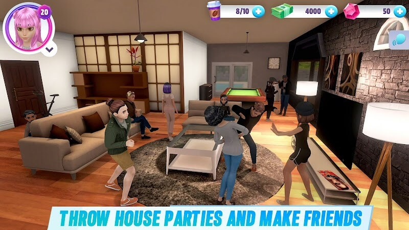 download virtual sim story mod money