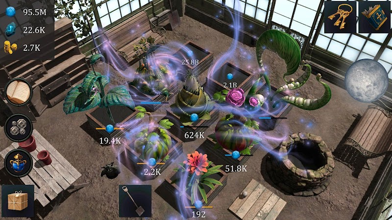 download wizards greenhouse idle mod apk