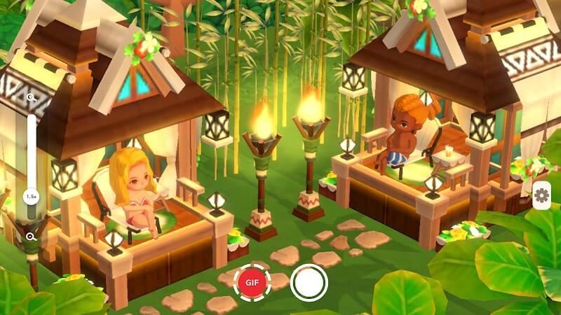 download my little paradise mod money