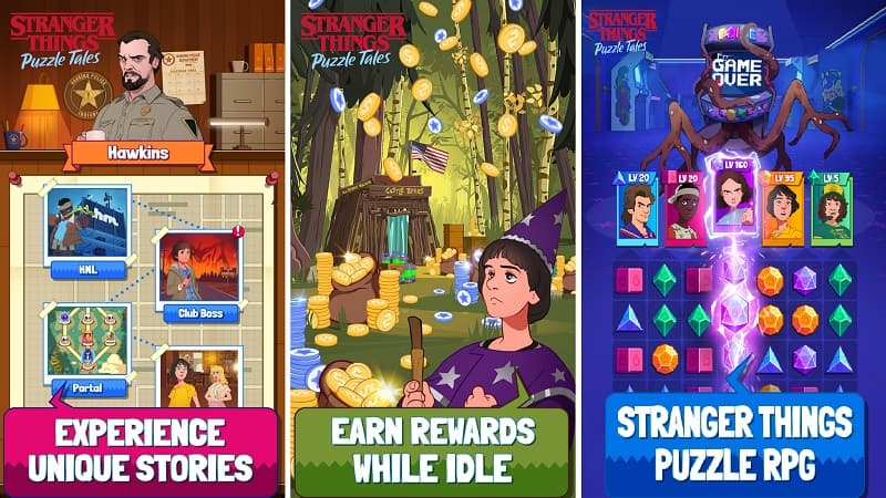 download stranger things puzzle tales mod